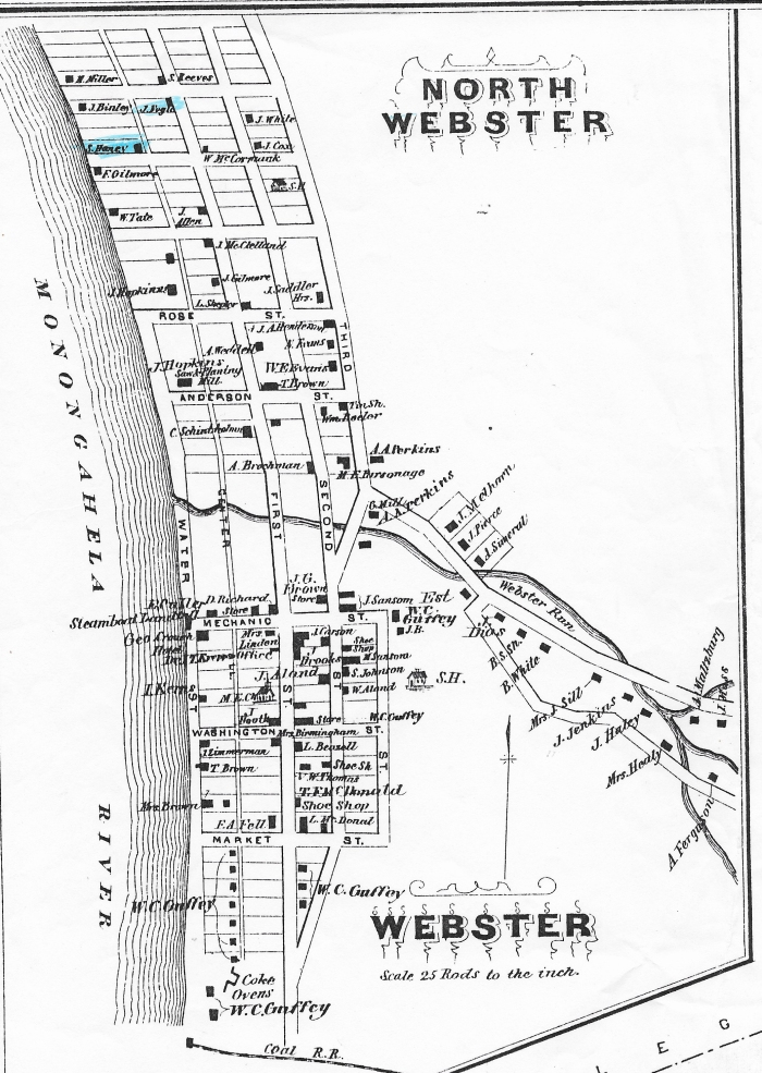 1876 Map of Webster, Westmoreland County, Pennsylvania