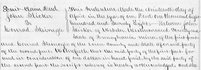 1878 Quitclaim Deed with John as Grantor.