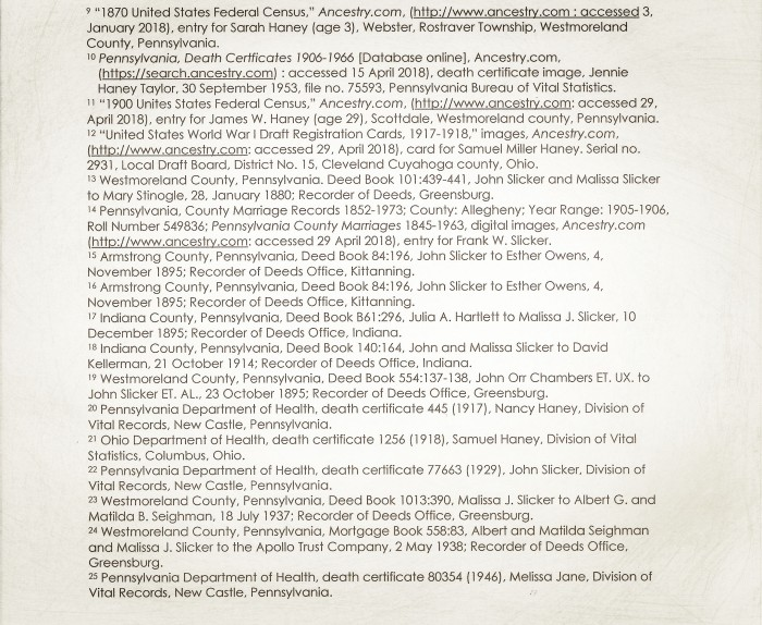 Malissa Jane Mansfield Slicker Timeline 5